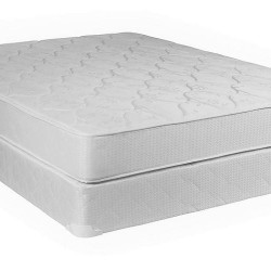 Mattress - Single Layer - Knitted fabric - Bonded - White  90x190 x 12 cm
